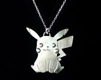 Pokemon Pikachu Sterling Silver Pendant