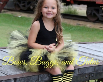 Bumble bee Halloween costume, Bumble bee tutu, black and yellow tutu, bee tutu, bee costume, bee Halloween outfit, infant bee tutu