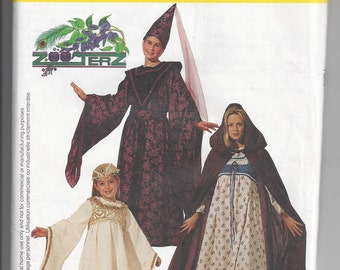 McCall's #8937 Pattern for Children's, Girls', and Misses' Medieval Costumes