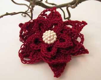 Brooch Pin - Flower Brooch - Crochet Brooch - Crochet Flowers - Handmade Jewelry