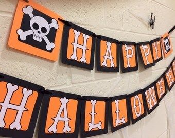 Halloween Banner, Happy Halloween Banner, Halloween Decorations, Halloween Party