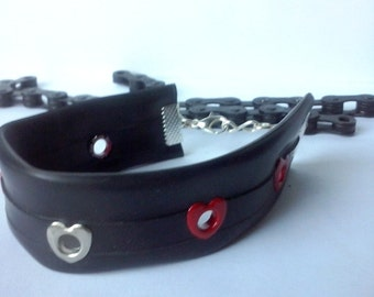 Inner tube bracelet / bike jewelry /Upcycled bike tirebracelet / Recycled rubber bracelet