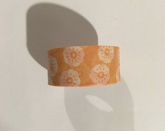 Orange and White Flowers Washi Tape