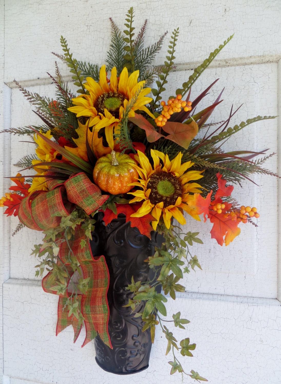 Fall Sunflower Wreath Fall Front Door Wreath Autumn Wreath