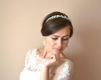 Ivory Bridal Earrings, Wedding Pearls Earrings, Ivory Pearl Earrings
