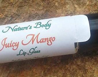 Juicy Mango Lip Gloss, Juicy Mango Lip Oil, 10 ml Roll On Lip Gloss
