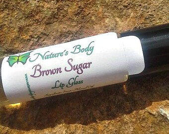 Brown Sugar Roll On Lip Gloss, 10 ml Lip Oil