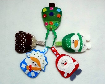 Felt Christmas tree toys, Christmas toys, Christmas tree toys, New-Year Tree decorations