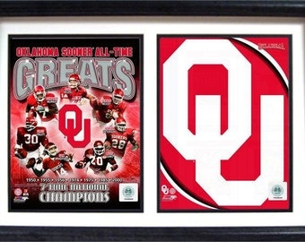 12x18 Double Frame - University of Oklahoma Greats