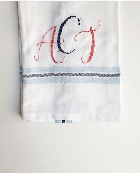 Tea Towels Unique: Hand Embroidered Tea Towel CUSTOM