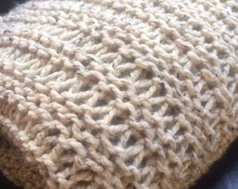 Chunky Knit Afghan Blanket in Custom Colors THE ROCHESTER made in the USA