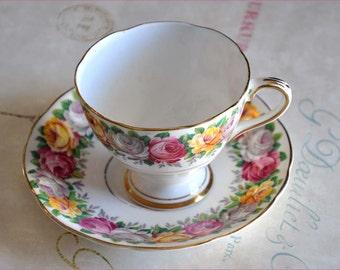 Vintage 30's Tea Cup, Gladstone Rosemary, Tea Cup Set, Bone China Tea Cup, Rosemary Tea Cup Set, Antique 30's Tea Cup, Rose Tea Cup Set Cup