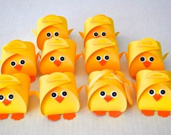 Chick Party Favor Treat Box