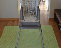 Duckies-Splat Mat / Art  Mat - Baby High Chair Washable Protection - Choose Your Patttern