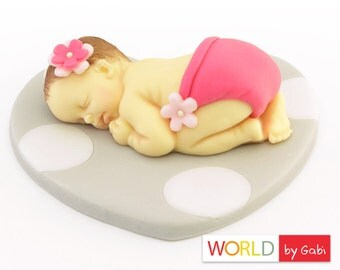 Fondant baby | Cake Topper Baby Shower | Fondant Cake Topper | Baby Cake Topper | Fondant Baby Cake Topper | Baptism Cake Topper