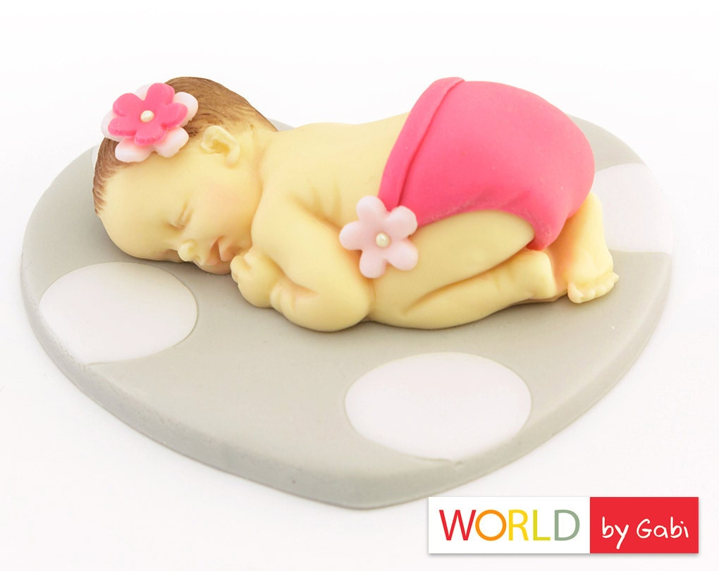 Cake Toppers In Fondant : Fondant baby Cake Topper Baby Shower Fondant Cake Topper