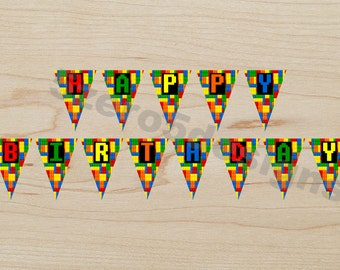 Lego Birthday Banner, Lego Birthday, Lego Party, Lego Birthday Party, Lego Birthday Party Banner, DIGITAL DOWNLOAD