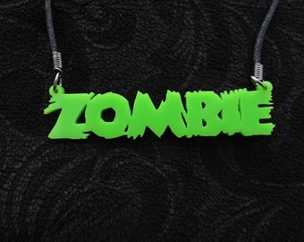 Laser cut zombie necklace
