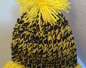 CLEARANCE:  Childs Black and Yellow Knitted Hat