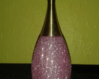 Pink Glittery Perfume Bottle for display only