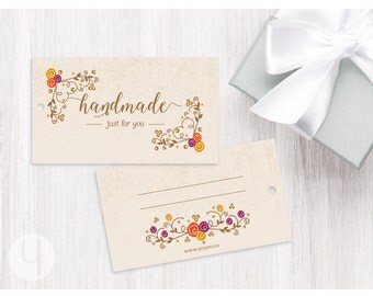 Floral/Swirls Gift Tags (Set of 12)