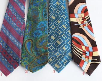 Vintage Wide Neck Ties, Mens Neckwear