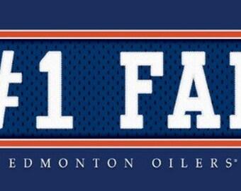 Edmonton Oilers-Free Shipping-#1 DAD or #1 FAN Jersey Stitch Framed Print-NHL