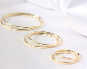 Small gold hoop earrings -  Hoop Earrings, Gold Hoops, High quality hoops, 14k gold filled earrings, Simple Delicate earrings, Gold Earrings