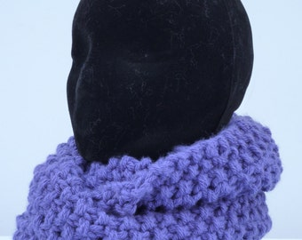 Hand knitted snood, knitted cowl, knitted snood, knitted neck warmer