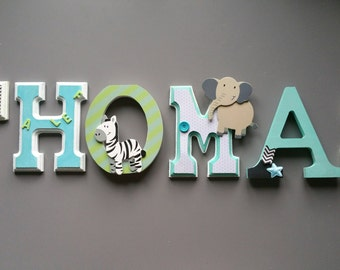 wooden letters personalized children and baby room