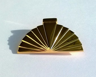 Karl LAGERFELD Brooch - Authentic and Vintage - Fan