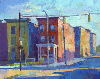 "Matted 8"" x 10"" Baltimore Row Homes - fine art print"