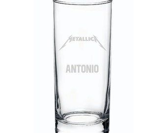Personalized Metallica Gift - Highball Engraved Glass