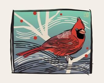Cardinal Graphic Giclee Print