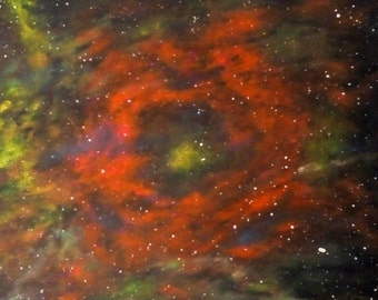 Table Nebula Galaxy - Nebula Galaxy yellow, green and Red - Sabrina RIGGIO