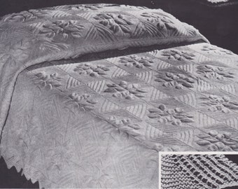 Knitting Patterns For Bed Throws : Knit edgings pattern Etsy