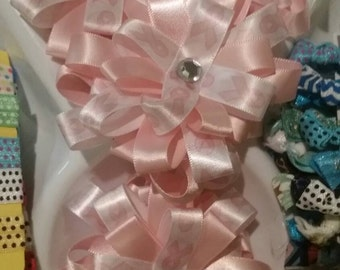 Breast Cancer Awareness Bows, bow, donation, pink