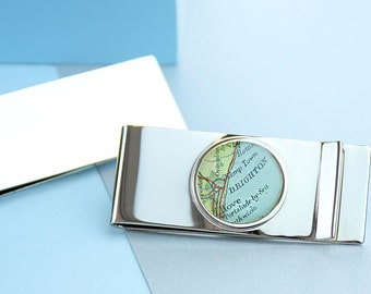Map Personalised Money Clip [MPMC]