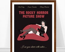 Rocky horror picture show poster, minimalist movie poster, 1970s movie poster, Frank-N-Furter art print