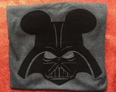 Star Wars Darth Vader Mickey Mouse Shirt- Disney Shirt- Personalize FREE