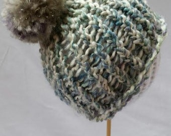 Baby Beanie_ Baby Shower_Baby Hat_New born photography prop_Plush Pom-Pom Baby Hat_ loom knitted baby hat