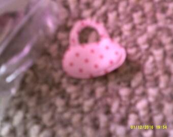 pale pink handbag embellishments