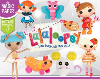 Lalaloopsy Clipart - Digital 300 DPI PNG Images, Photos, Scrapbook, Digital, Cliparts - Instant Download