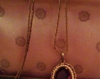 Vintage Purple Stone Necklace
