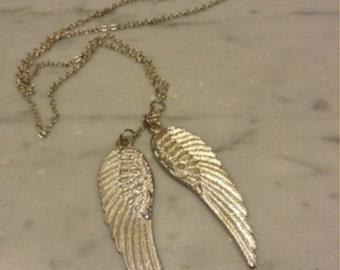 Vintage Angel Wings Necklace