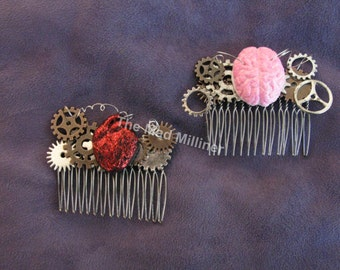 Bio-mechanical Steampunk Hair combs