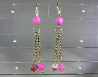 pink dangles