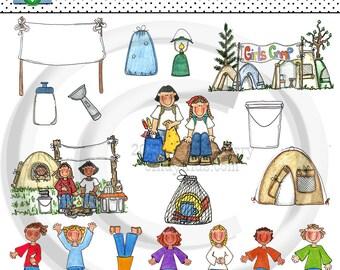 LDS Young Women Camp Clip Art - Art work By Cindy Urry