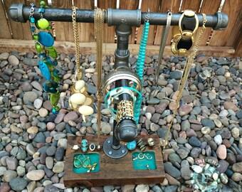 Jewelry Organizer, necklace holder, Jewelry Stand, Bracelet stand, industrial rack, Jewelry Display, Bracelet display, Jewelry Holder