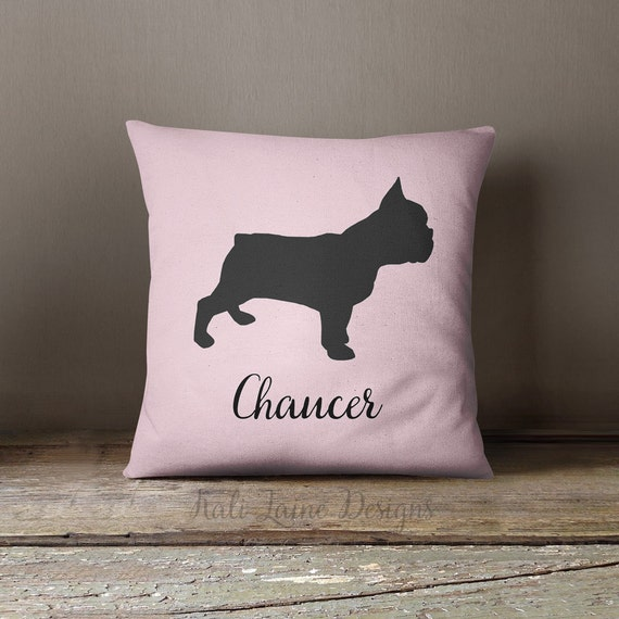 Personalized Dog Throw Pillows : Custom Dog Name Decorative Throw Pillow/ by KaliLainePetWares
